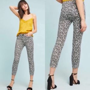 Anthropologie Pineapple Print Cropped Pants 12R